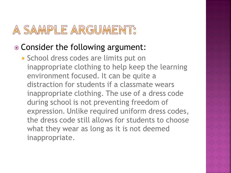 dress code argumentative essay