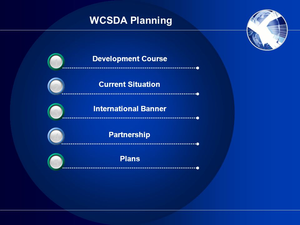WCSDA Planning 3 1 2 3 4 3 5 Development Course Current Situation