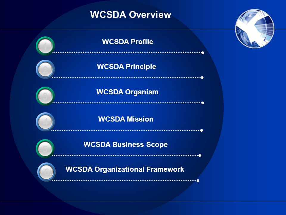 WCSDA Organizational Framework