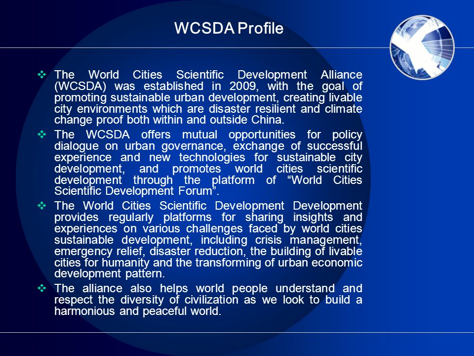 WCSDA Profile