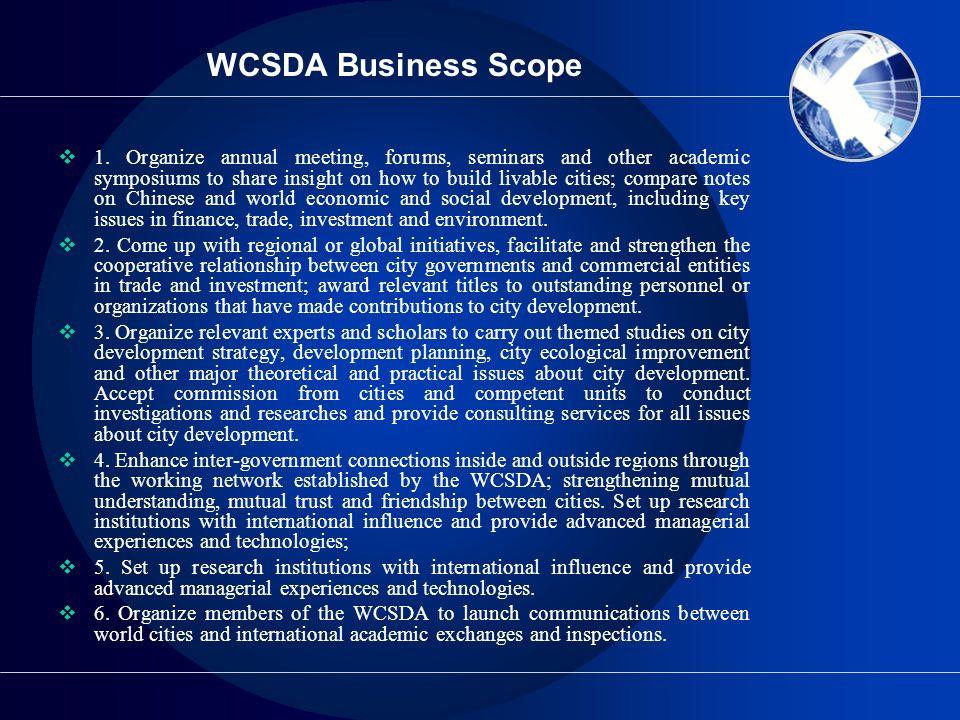 WCSDA Business Scope