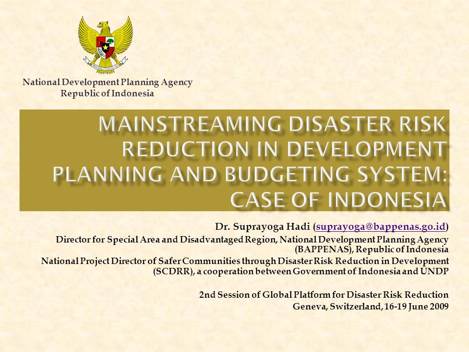 National Development Planning Agency