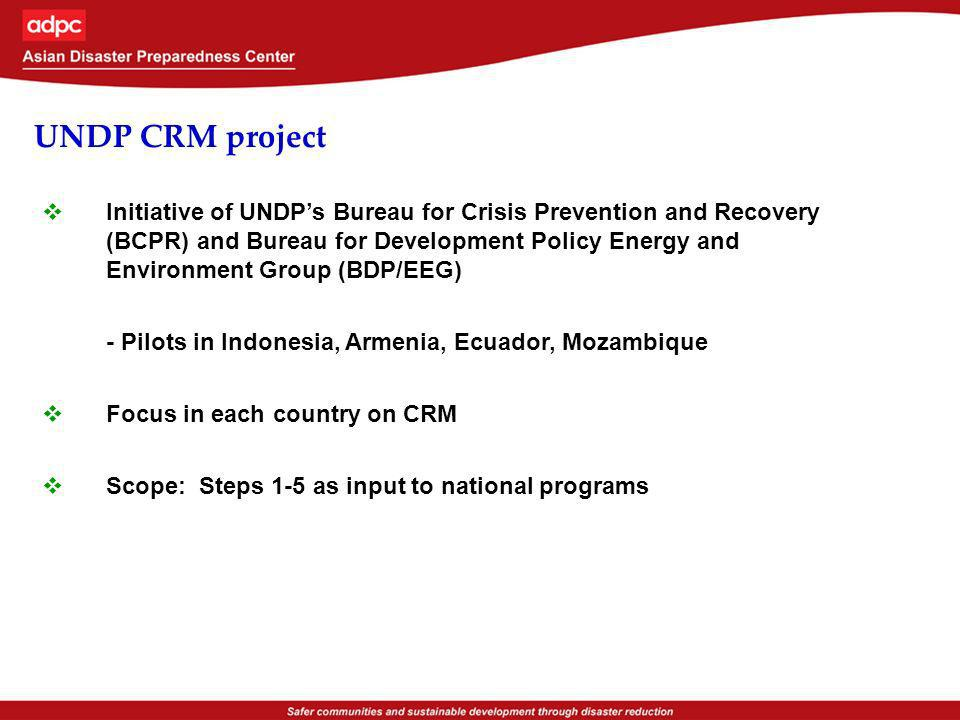 UNDP CRM project