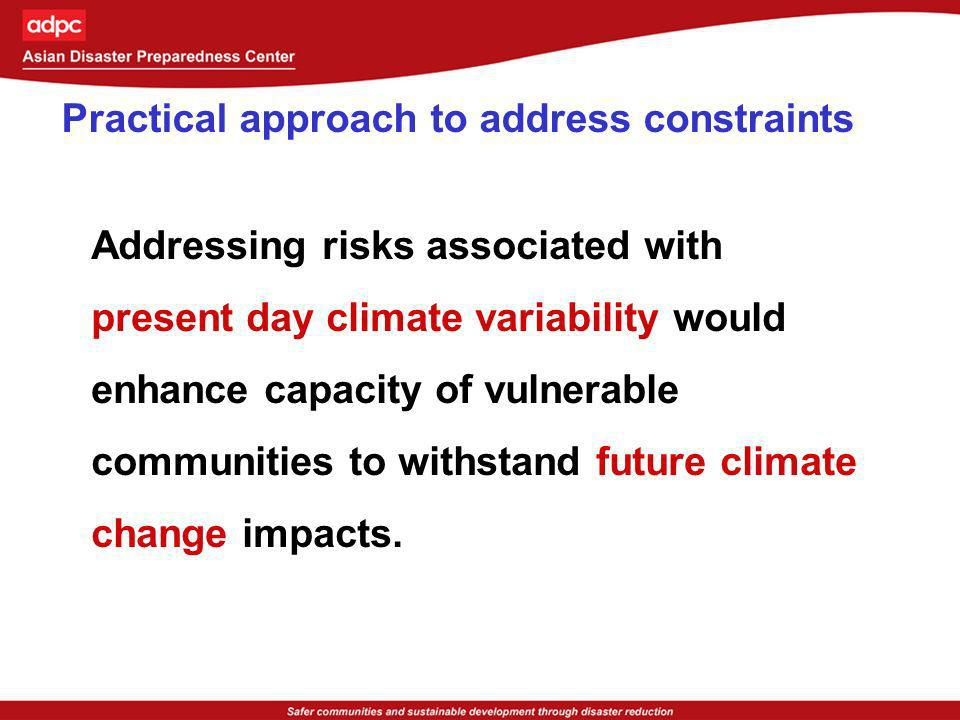 Practical approach to address constraints