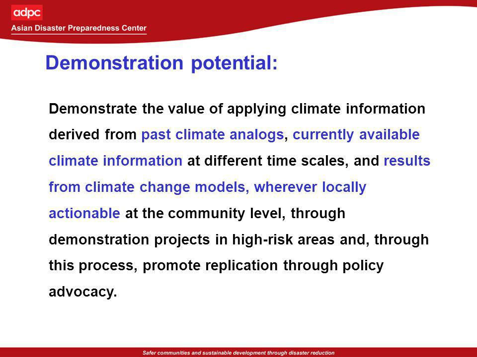 Demonstration potential: