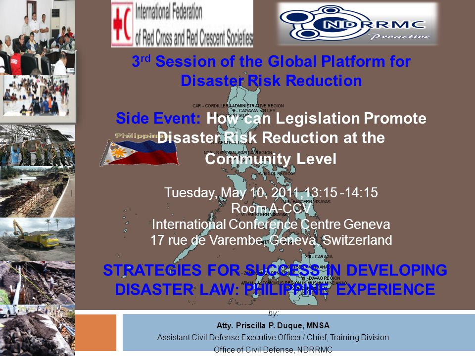 3rd Session of the Global Platform for Disaster Risk Reduction