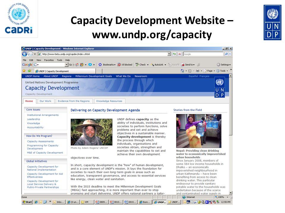 Capacity Development Website – www.undp.org/capacity