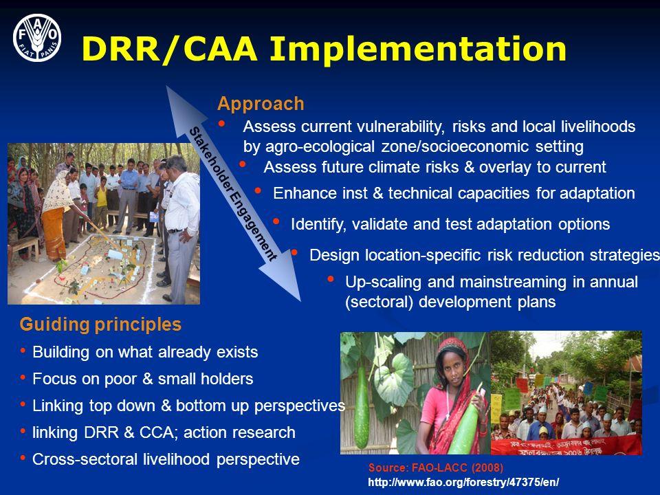 DRR/CAA Implementation Stakeholder Engagement