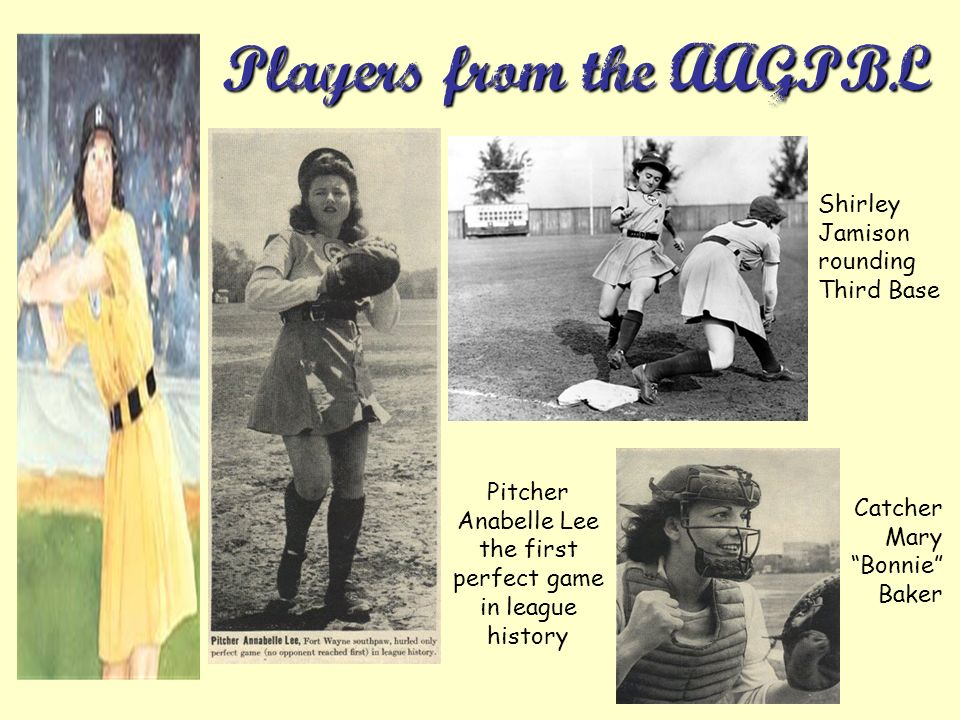 Players from the AAGPBL