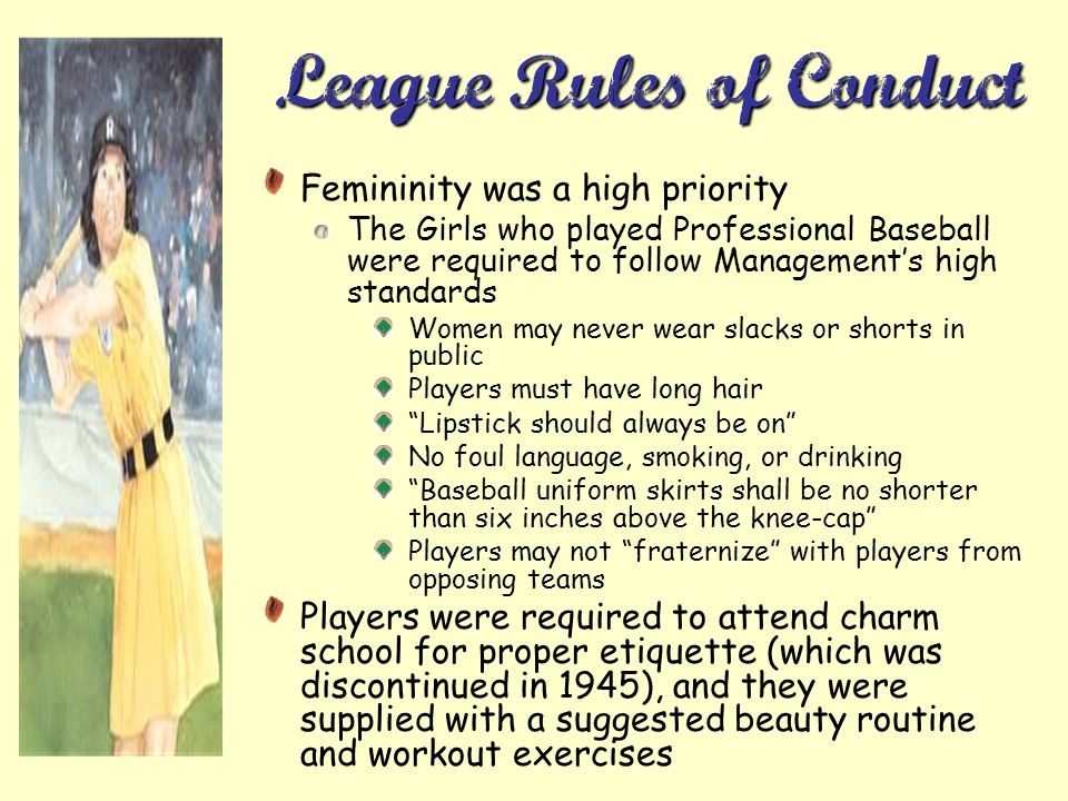 League Rules of Conduct