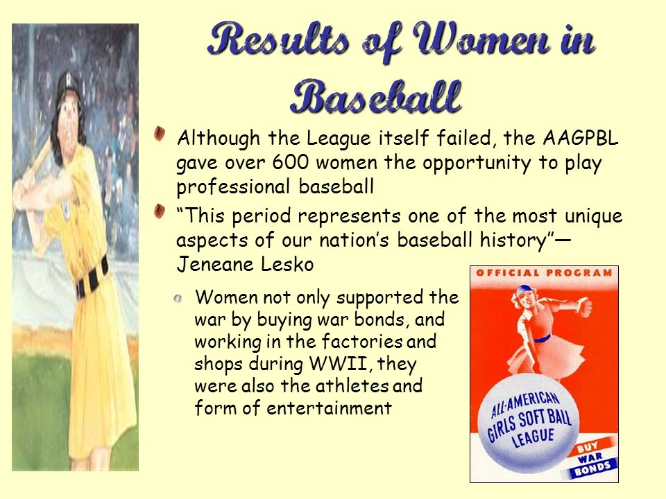 Results of Women in Baseball…