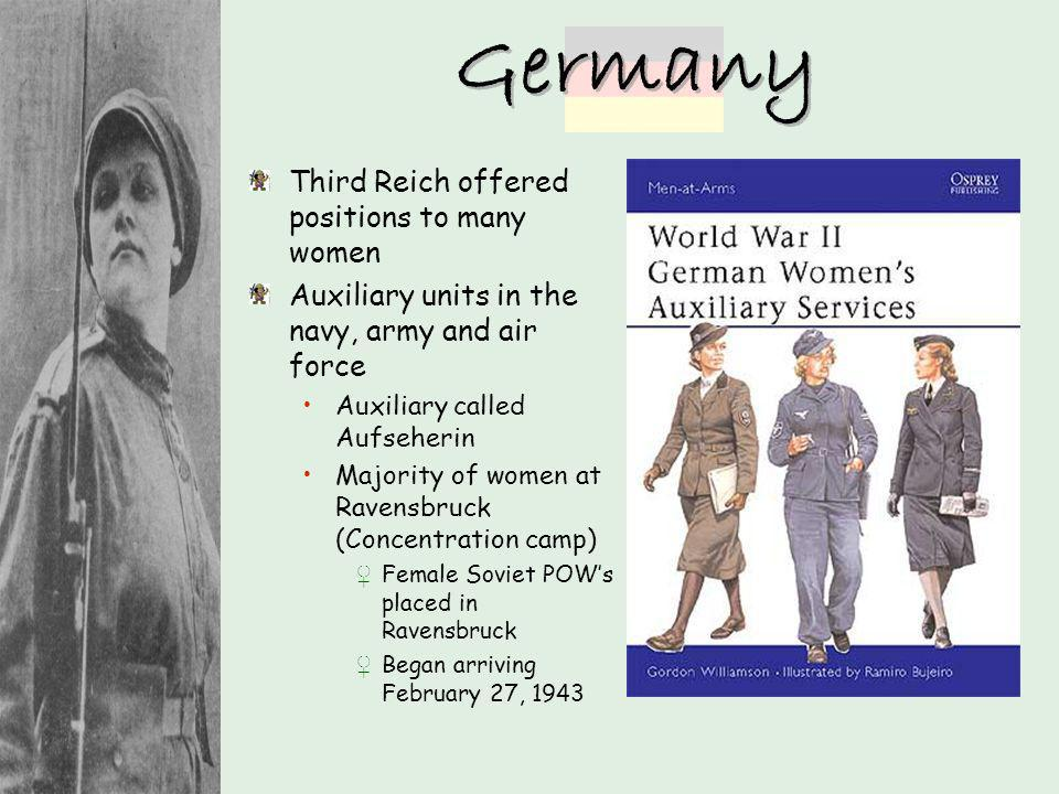 Germany Third Reich offered positions to many women