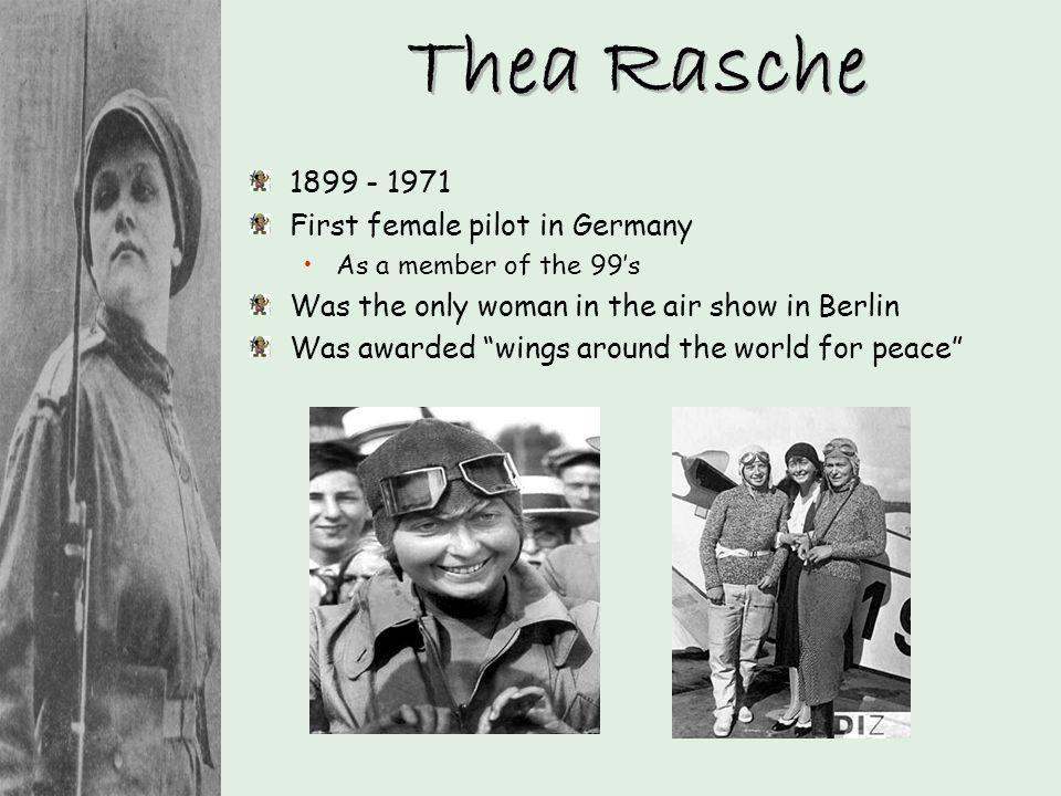 Thea Rasche First female pilot in Germany