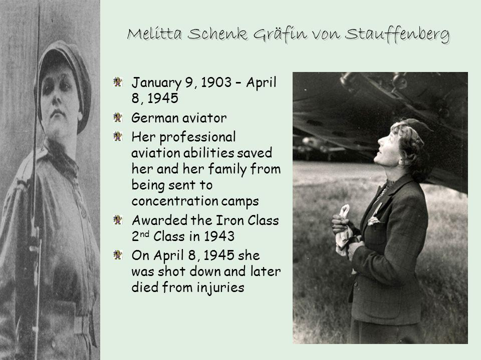 Melitta Schenk Gräfin von Stauffenberg