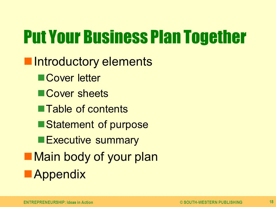 Develop A Business Plan  Ppt Video Online Download