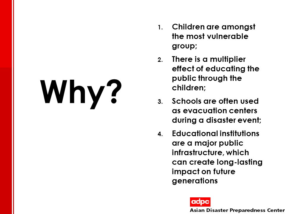 Why Children are amongst the most vulnerable group;