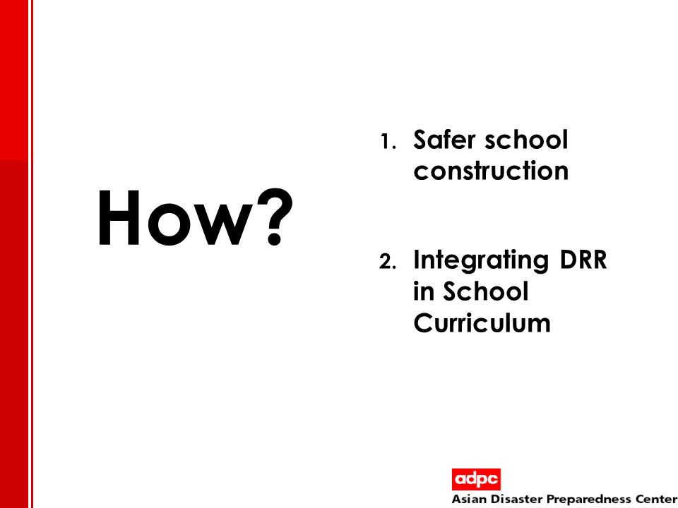 Safer school construction