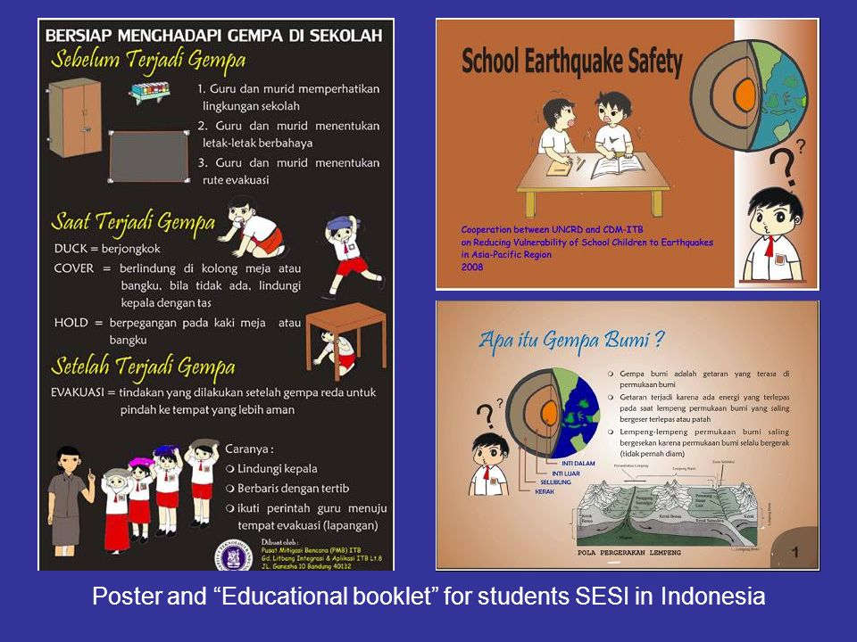 Poster and Educational booklet for students SESI in Indonesia