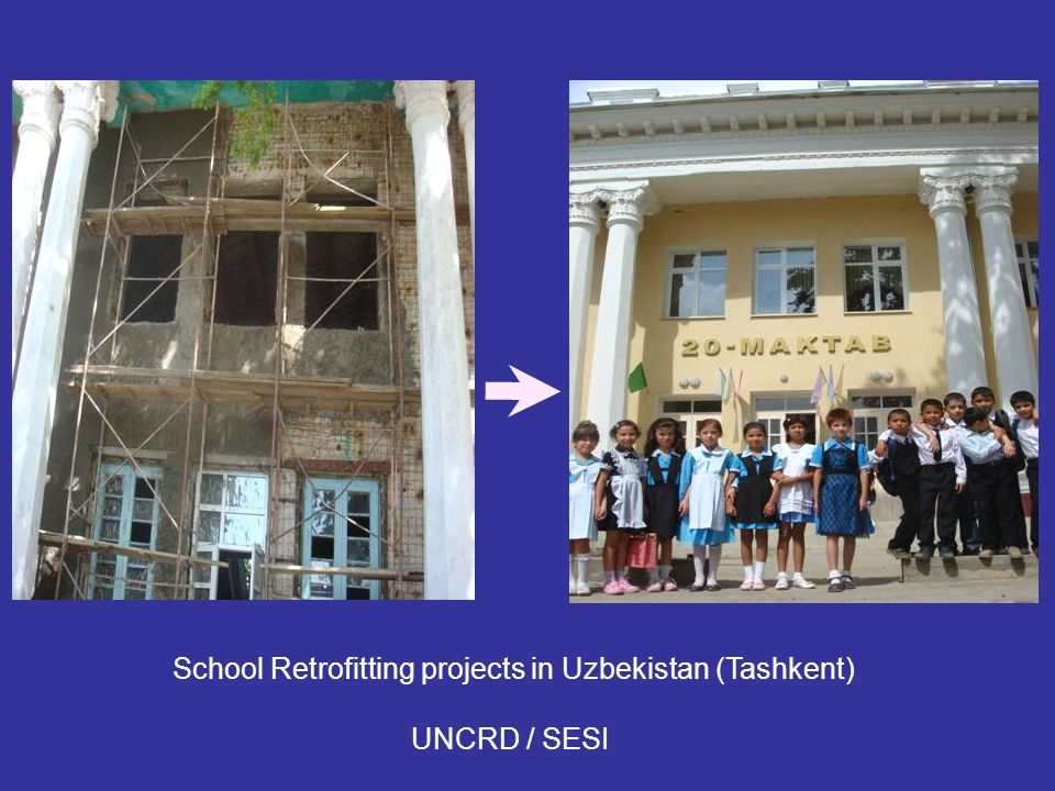 School Retrofitting projects in Uzbekistan (Tashkent)