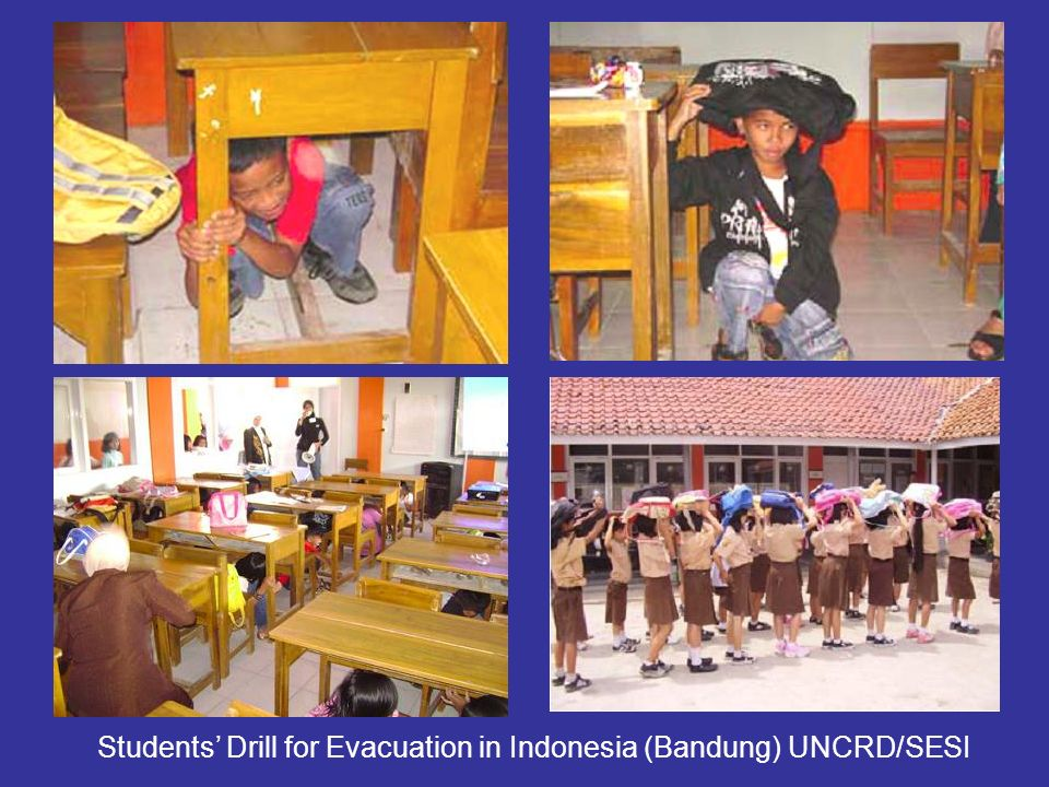 Students' Drill for Evacuation in Indonesia (Bandung) UNCRD/SESI