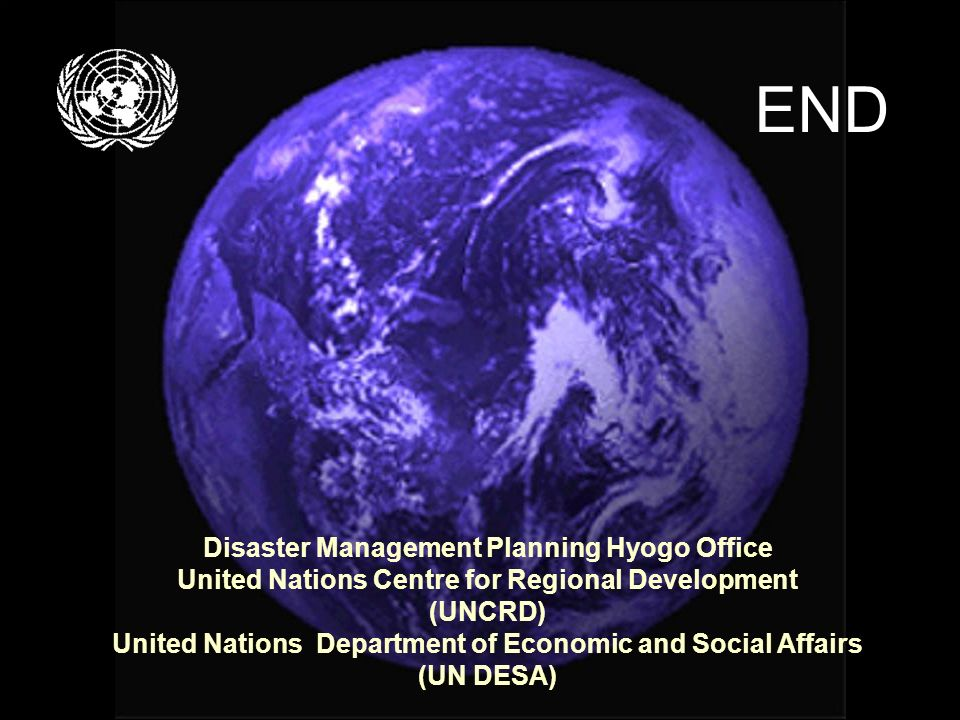 END Disaster Management Planning Hyogo Office
