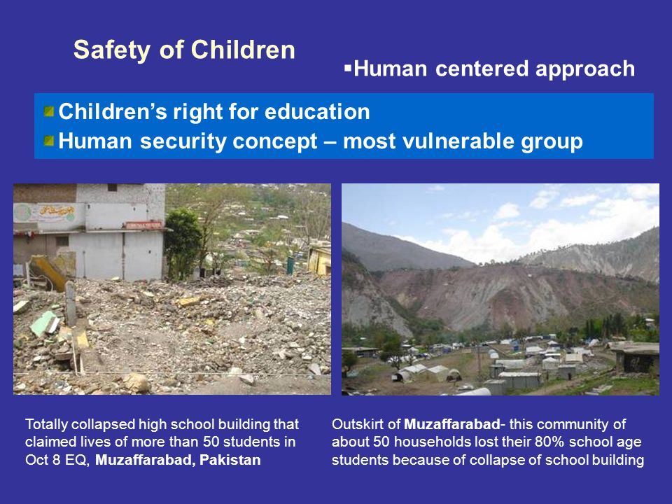 Safety of Children Human centered approach