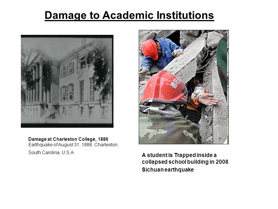 Damage to Academic Institutions