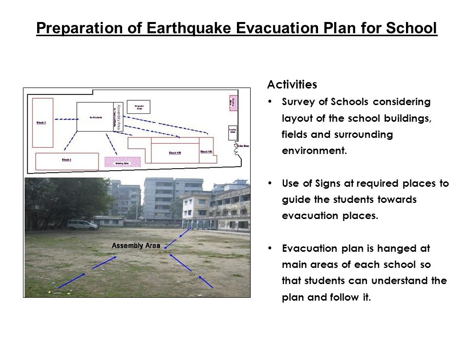 Preparation of Earthquake Evacuation Plan for School