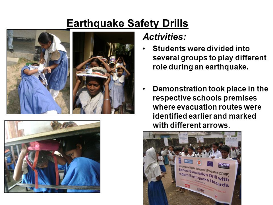 Earthquake Safety Drills
