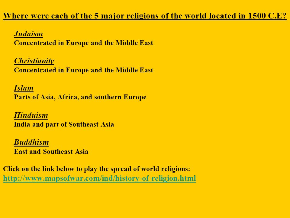 Origin Of Of The Major World Religions Ppt Video Online Download - 5 major world religions