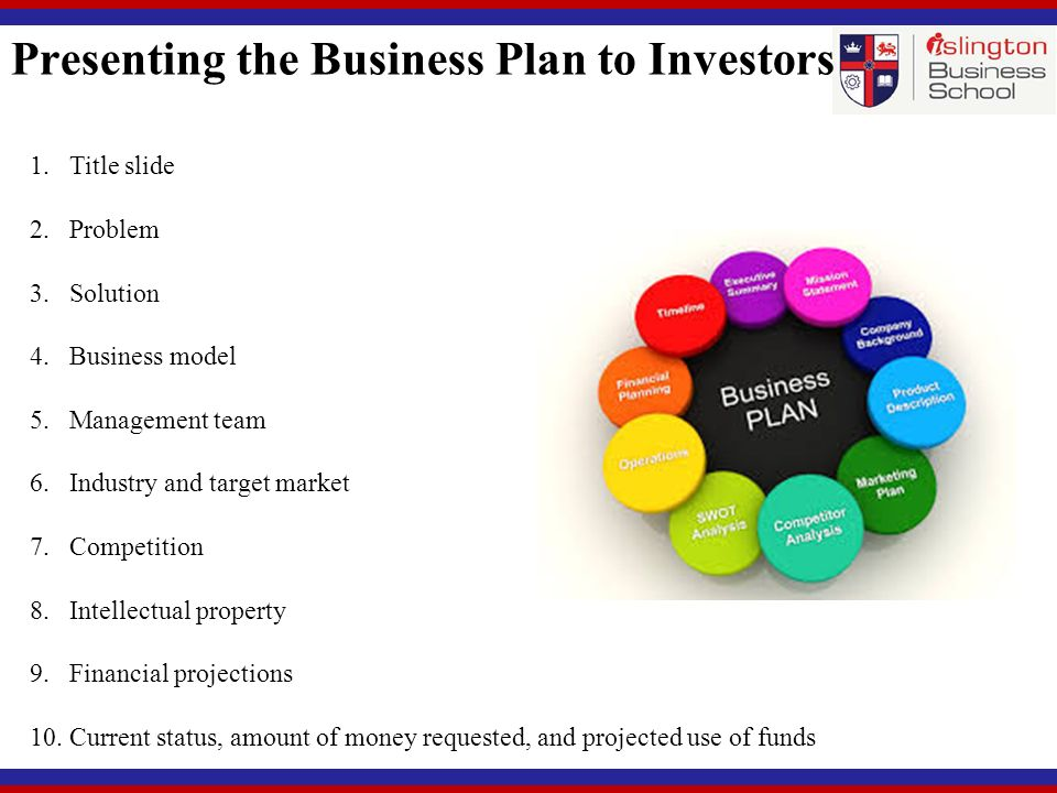 presenting business plan to investors ppt