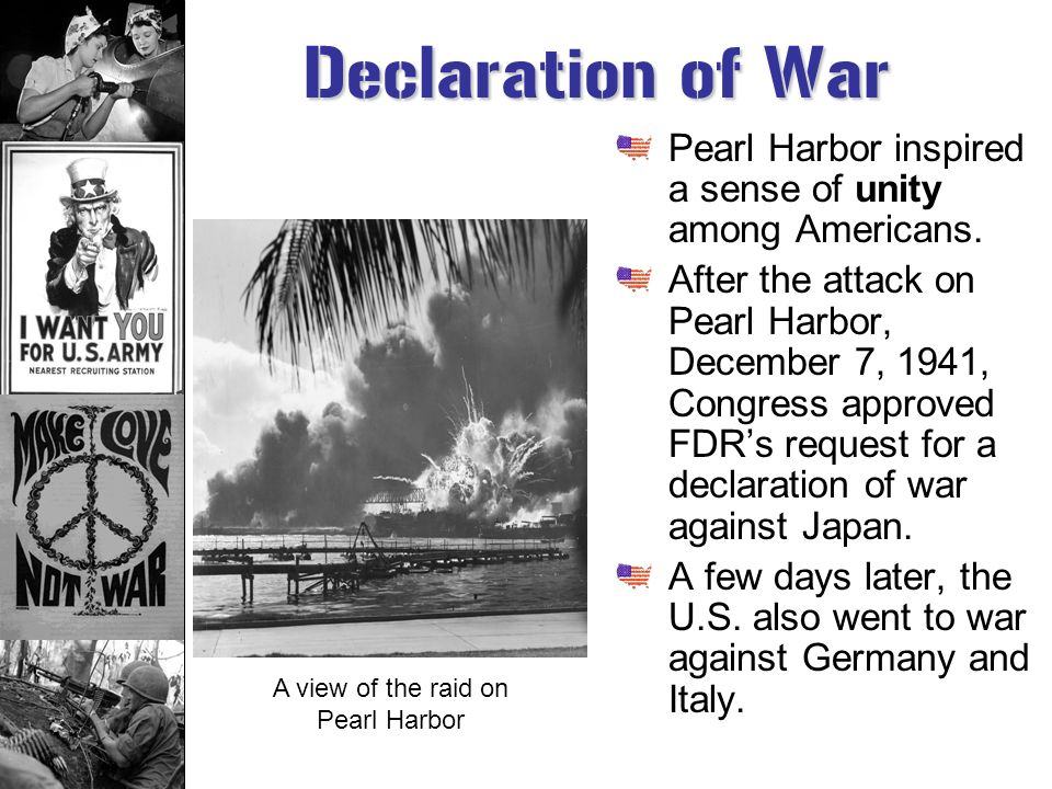 A view of the raid on Pearl Harbor