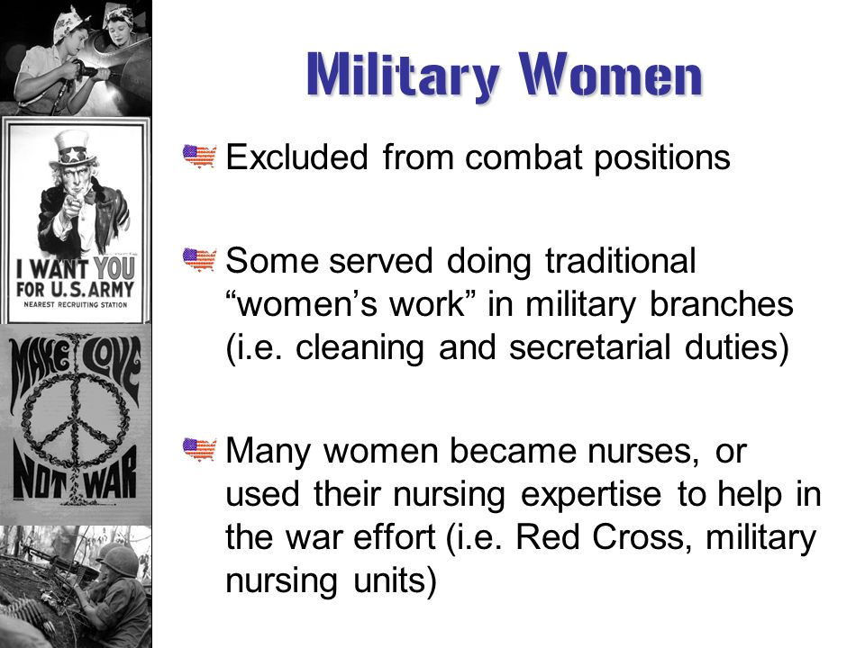 Military Women Excluded from combat positions