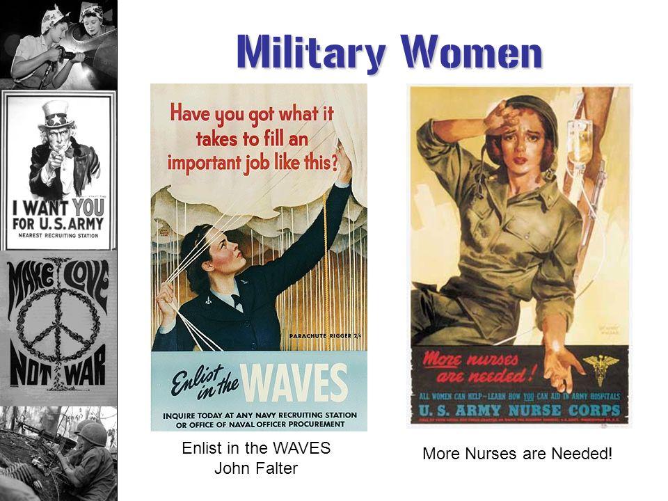 Enlist in the WAVES John Falter