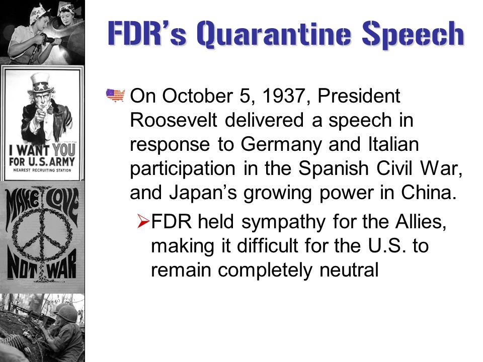 FDR's Quarantine Speech