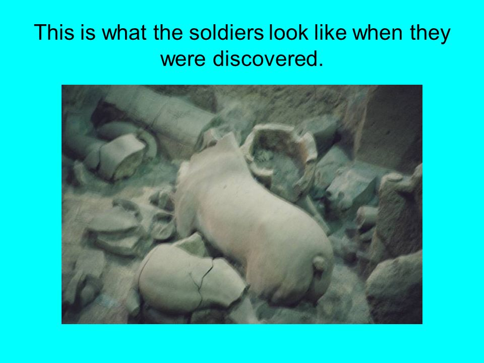 This is what the soldiers look like when they were discovered.
