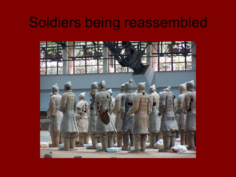 Soldiers being reassembled