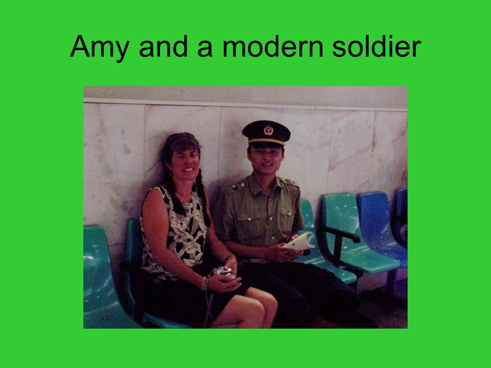 Amy and a modern soldier