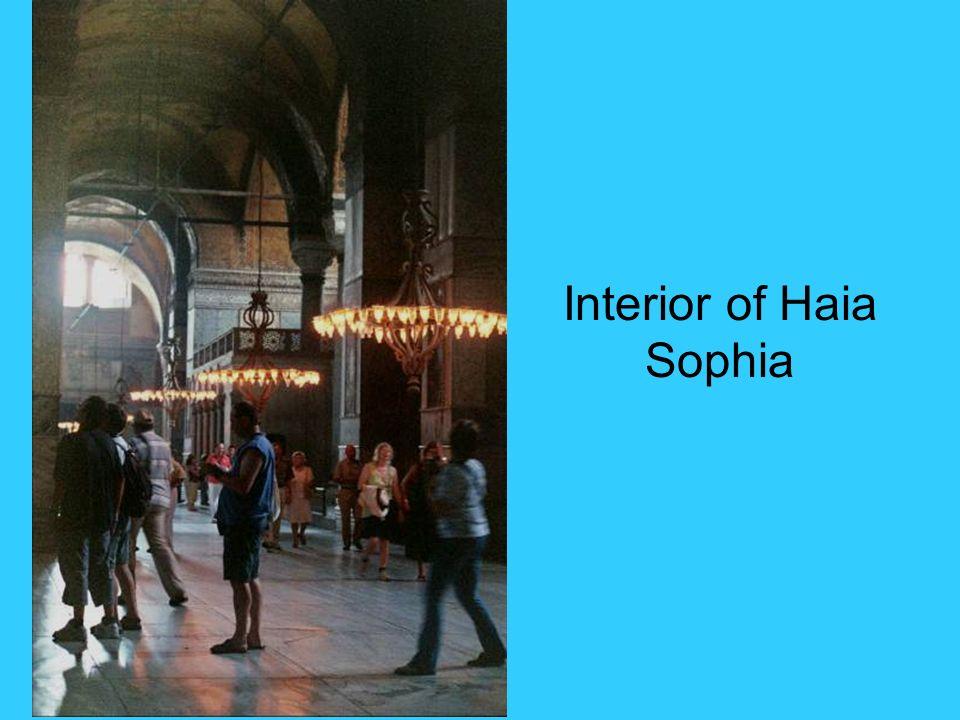 Interior of Haia Sophia