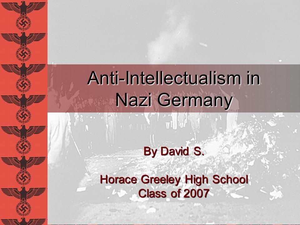 Anti-Intellectualism in Nazi Germany