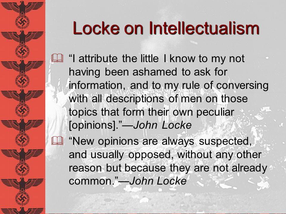 Locke on Intellectualism