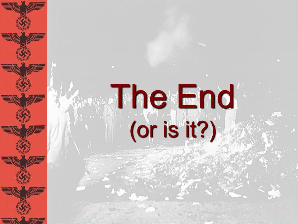 The End (or is it ) David E. Schneyer