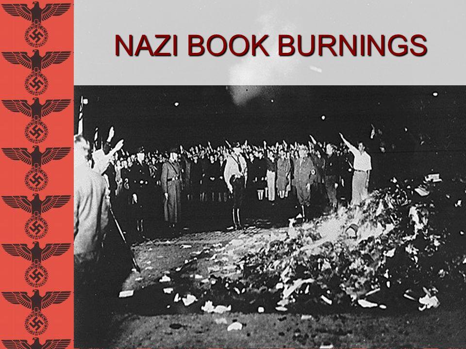 NAZI BOOK BURNINGS David E. Schneyer