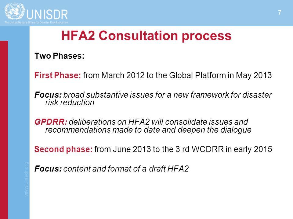 HFA2 Consultation process