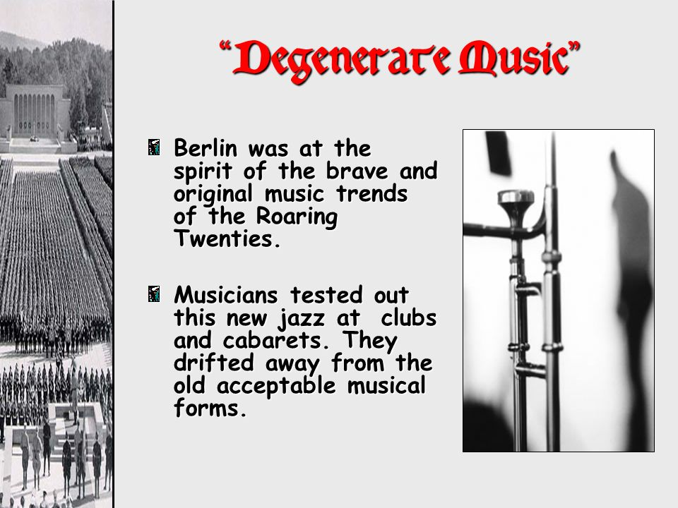Degenerate Music Berlin was at the spirit of the brave and original music trends of the Roaring Twenties.