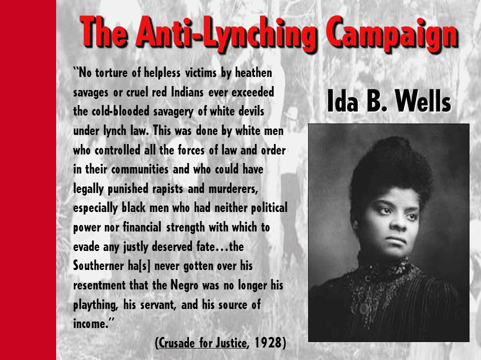 The Anti-Lynching Campaign