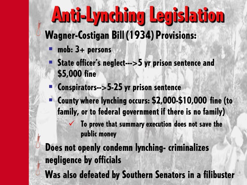 Anti-Lynching Legislation