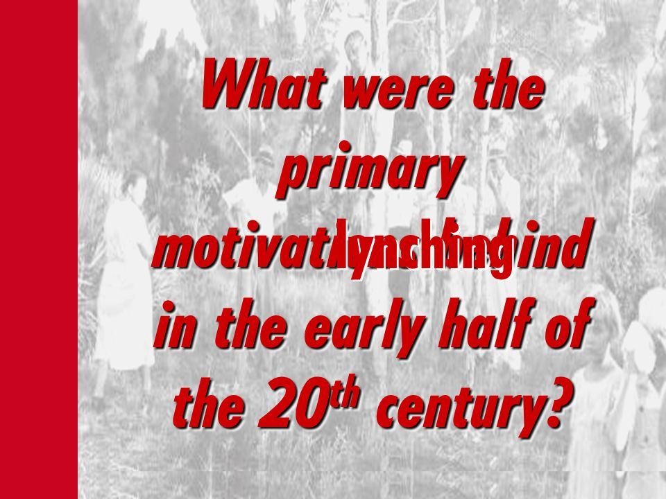 What were the primary motivations behind in the early half of the 20th century