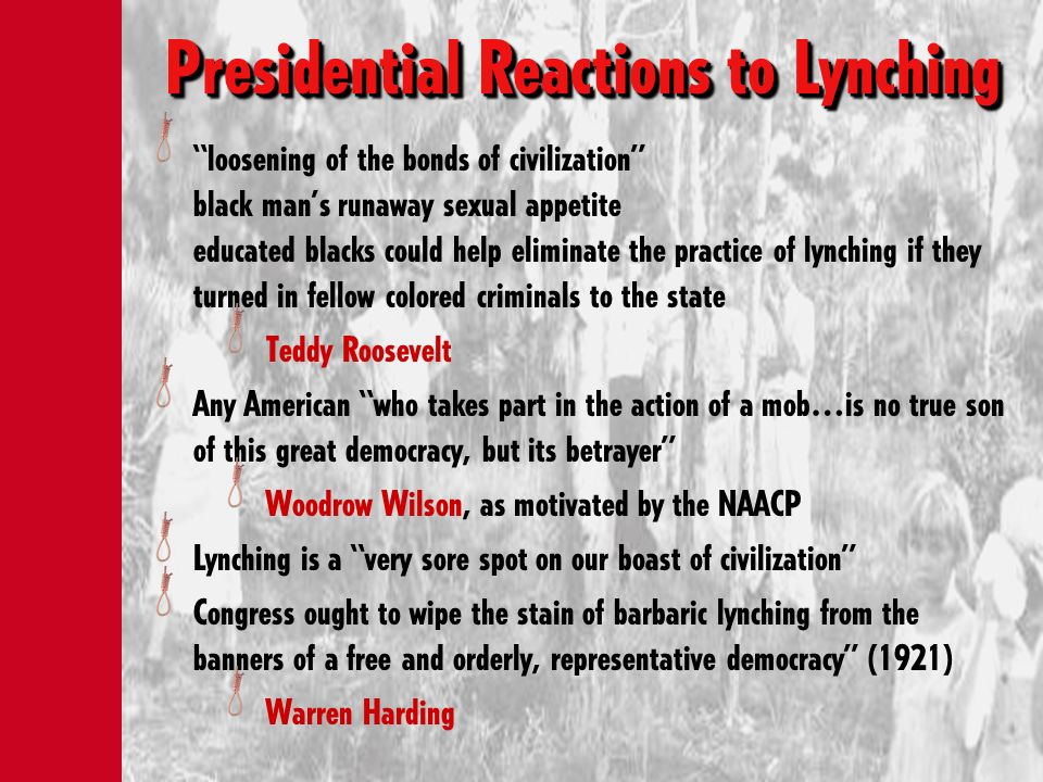 Presidential Reactions to Lynching