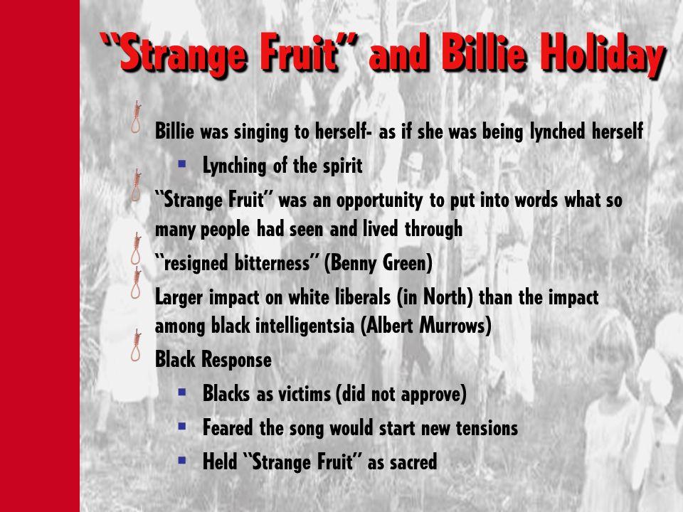 Strange Fruit and Billie Holiday